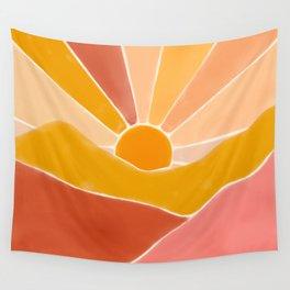 Wonderful Sunset Boho Wall Tapestry