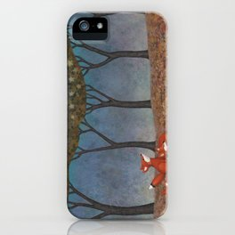 sleepy foxes iPhone Case
