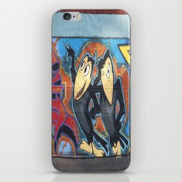 street art graffiti heckle and jeckle cartoon characters zolliophone iPhone Skin