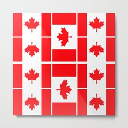 Canadian Flag Metal Print