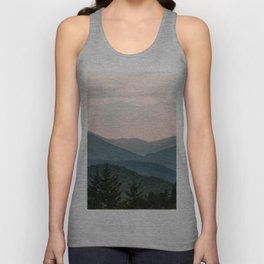Smoky Mountain Pastel Sunset Unisex Tank Top