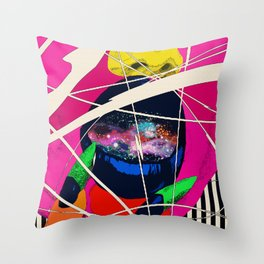 Cosmic Girl Throw Pillow