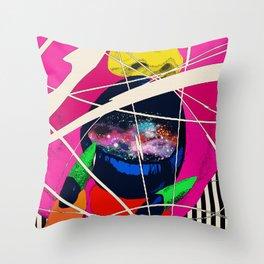 Cosmic Girl Throw Pillow