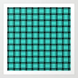 Turquoise Weave Art Print