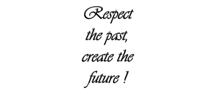 Respect the past , create the future . Coffee Mug