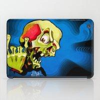 rock n roll iPad Cases featuring Rock n' Roll Skull by Vida Graffiti