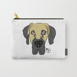Faun Great Dane Face Carry-All Pouch