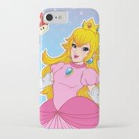 princess peach iPhone & iPod Cases featuring PRINCESS PEACH by Laurdione