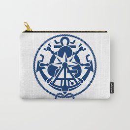 Nautical Symbols Overkill Carry-All Pouch