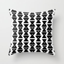 RIGHT AND WRONG: II BLACK AGAIN Throw Pillow