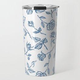 Roses are Bleue Travel Mug