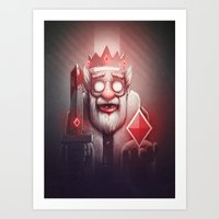 king Art Prints featuring King of Doom by Dr. Lukas Brezak