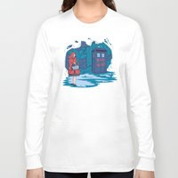 hallion Long Sleeve T-shirts featuring Big Bad Wolf by Karen Hallion Illustrations
