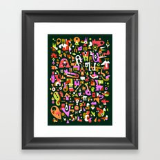 Schema 16 Framed Art Print
