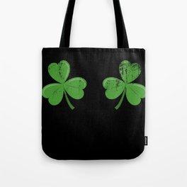 Funny Irish Shamrocks Boobs design Celtic Saint Patrick Day Tote Bag