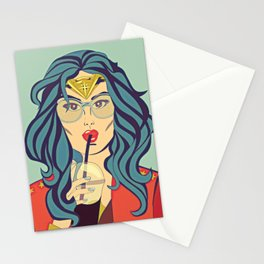 Superhero Coffee Break Stationery Cards