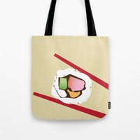 sushi Tote Bags featuring Sushi by Nathan Rhoads