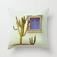 cactus Throw Pillows featuring Cactus by Sébastien BOUVIER