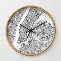 New York City Neutral Map Art Print by hubertroguski