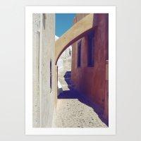 Santorini Walkway III Art Print
