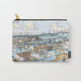 Panoramic of Genoa Carry-All Pouch