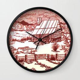 Mountain Cabin Rustic Wall Clock