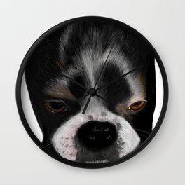 It Wasn't Me - Boston Terrier Puppy Wall Clock