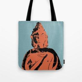 Graphically Bold Buddha on Blue Tote Bag