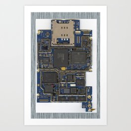 iPhone Guts Art Print