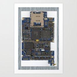 iPhone Guts Art Print