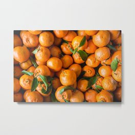 Orange Fruits Metal Print