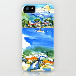 river Magra in Liguria, Italy iPhone Case