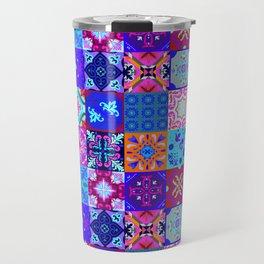 Bohemian Jungle Quilt Tiles 2 Travel Mug