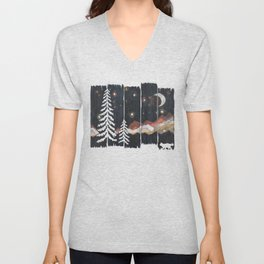 A Starry Night in the Mountains... Unisex V-Neck
