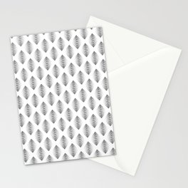 Black Dot Geo Diamond Stationery Cards