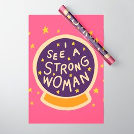 I see a strong woman Wrapping Paper