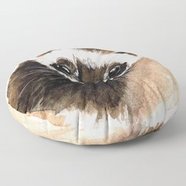 Ferret portrait Floor Pillow