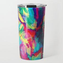 Rainbow Elephant 2 - left Travel Mug