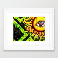 psychadelic Framed Art Prints featuring Psychadelic sun by Annabomb