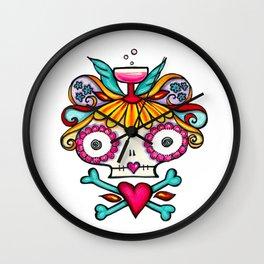 Bones 'n Bubbly Wall Clock