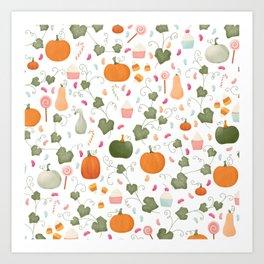 Pumpkin Party | White Background Art Print