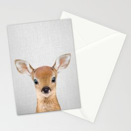 Baby Deer - Colorful Stationery Cards