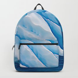 Blue Ice Iceberg Slipping Into Ocean Waters Backpack