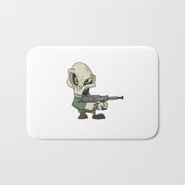 Cute mini skull gangster Bath Mat