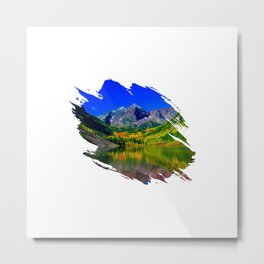 Beautiful landscape of mountains Metal Print