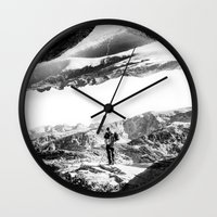 return Wall Clocks featuring Return to isolation planet by Stoian Hitrov - Sto