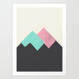 Pastel Mountains I Art Print