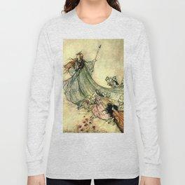 """""""Queen of the Fairies"""" by Arthur Rackham Midsummer's Night Long Sleeve T-shirt"""