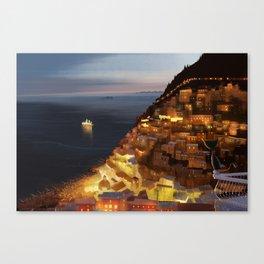 Positano Night Canvas Print