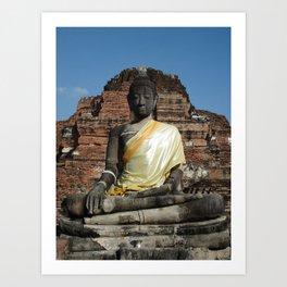 Golden Thailand Buddah Art Print